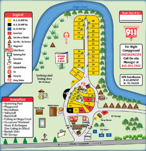 Campground Map For Susquehanna Trail Campground in Oneonta NY